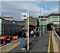 SS9079 : End of the line at Bridgend railway station by Jaggery