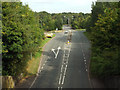 SP0366 : B4504 nearing the A448, from the Birchfield Road overbridge, Headless Cross, Redditch by Robin Stott
