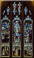 SO7745 : Stained glass window, Great Malvern Priory by Julian P Guffogg