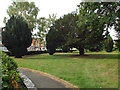 SP0366 : Public garden, former burial ground, Rectory Road, Headless Cross, Redditch by Robin Stott
