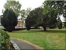 SP0366 : Public garden, former burial ground, Rectory Road, Headless Cross, Redditch by Robin Stott