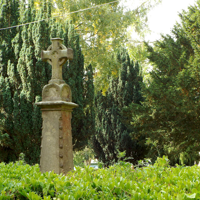 Memorial retained in former burial ground, Rectory Road, Headless Cross, Redditch