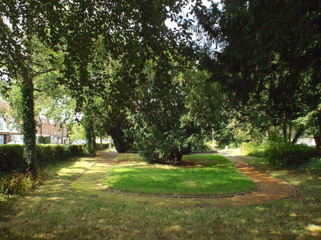 East end of public garden, former burial ground, Rectory Road, Redditch