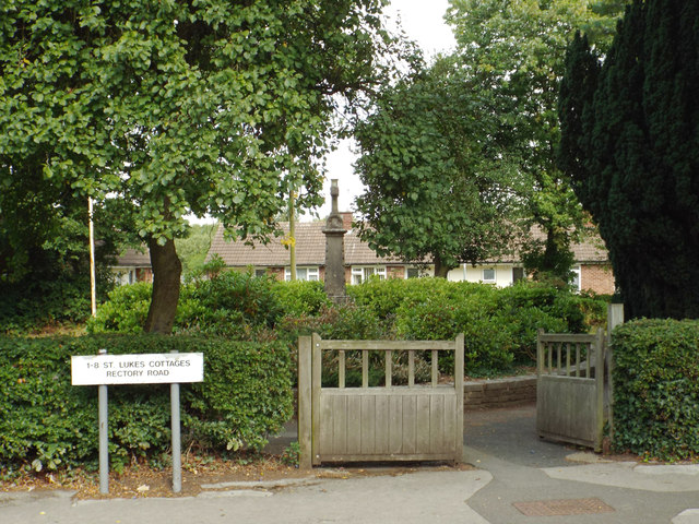 Gates for access to St Luke's Cottages, Rectory Road, Headless Cross, Redditch