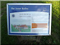 TL7745 : The Inner Bailey Information sign at Clare Park by Adrian Cable
