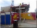 SK3586 : Hoardings around Sheffield Hallam's newest building by Steve  Fareham