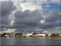 SZ1891 : Mudeford: across the harbour towards facing houses by Chris Downer