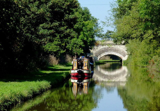 Trent and Mersey Canal near Salt, Staffordshire