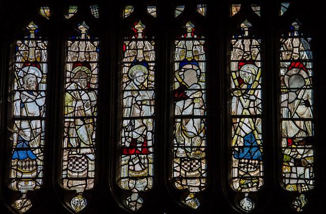 Detail, Great East Window, Great Malvern Priory