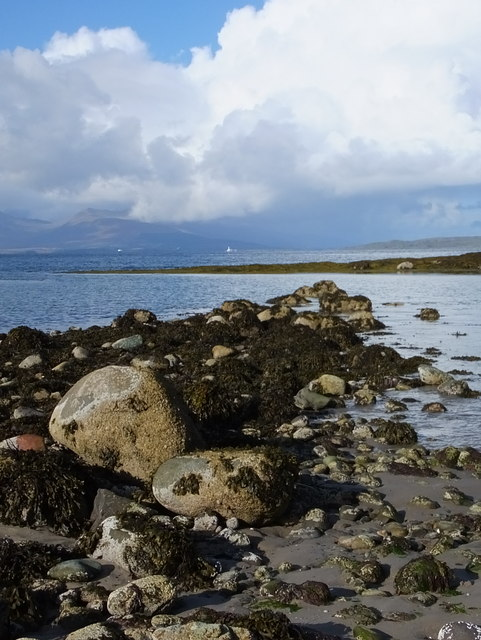 Rocks by the beach at Ganavan