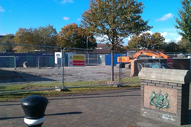 Building work on new public space Connswater Greenway