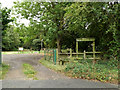 TM0856 : Entrance to Fen Alder Carr Nature Reserve by Adrian Cable