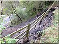 SO2012 : Landslip in the upper gorge! by Alan Bowring