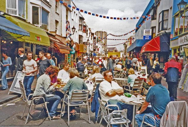 Brighton: in the North Laine, 2002