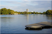 TQ2780 : Landing stage on The Serpentine by Bill Boaden