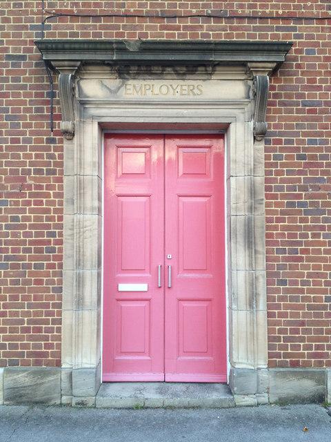 Imposing doorway for employers, Church Road, Redditch