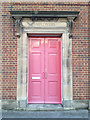 SP0367 : Imposing doorway for employers, Church Road, Redditch by Robin Stott