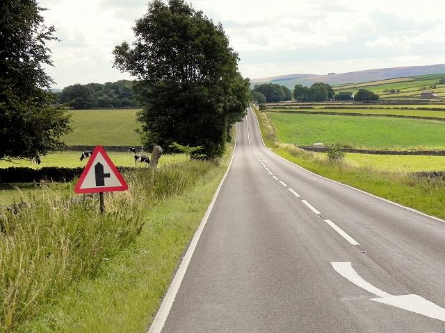 A623 towards Lane Head