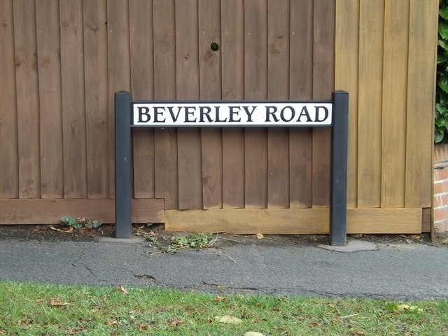 Beverley Road sign