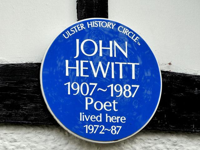 John Hewitt plaque, Belfast (2)