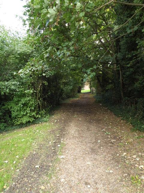 Footpath off the B1108 Earlham Road