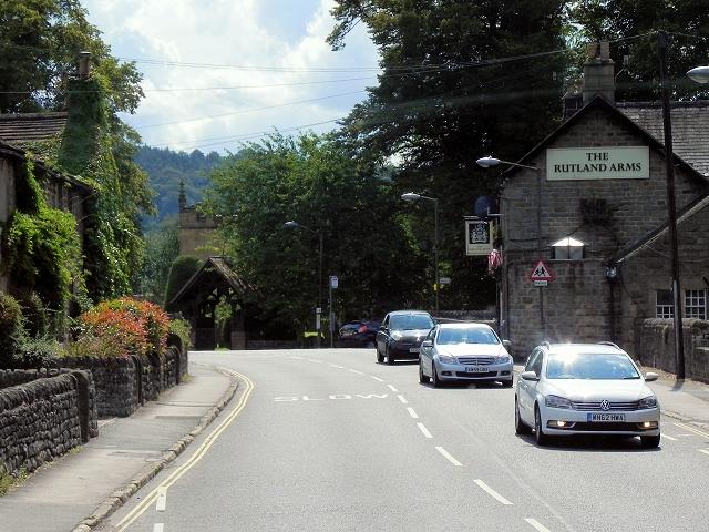 Baslow, Calver Road (The Rutland Arms)