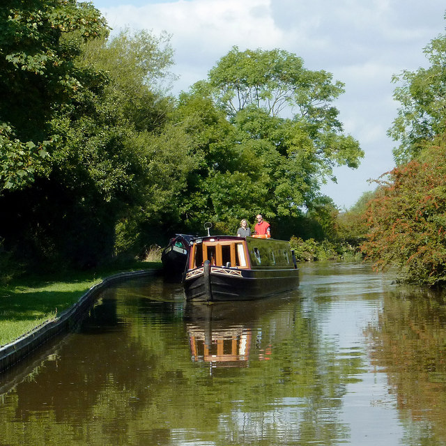Trent and Mersey Canal east of Burston, Staffordshire