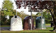J3170 : Recycling bins, Musgrave Park, Belfast (October 2014) by Albert Bridge
