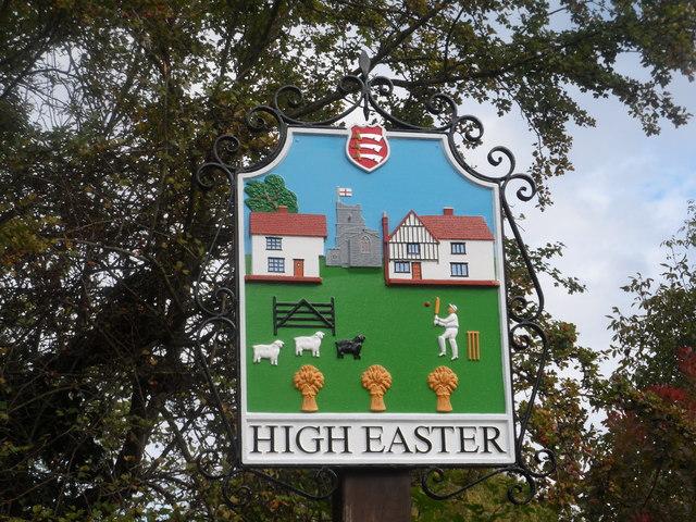 High Easter, Village sign