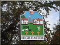 TL6214 : High Easter, Village sign by Bikeboy