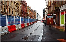 SP0786 : New tram track (1), Corporation Street, Birmingham by P L Chadwick