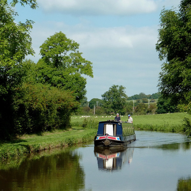 Cruising on the Trent and Mersey Canal in Staffordshire