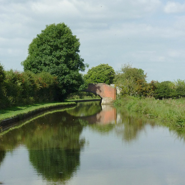 Trent and Mersey Canal south-east of Stone, Staffordshire