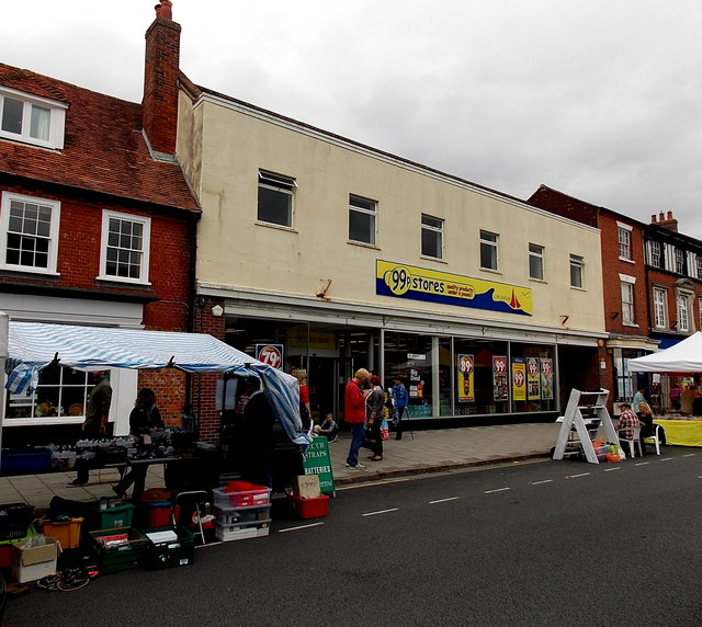 99p Stores in former Woolworths, Lymington