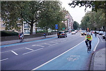 TQ2977 : Cycle Superhighway 8 on Grosvenor Road by Bill Boaden