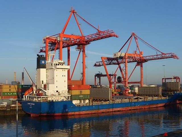 """Hanse Courage"", Dublin Port"
