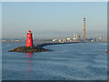 O2333 : Poolbeg Lighthouse and Power Station by Oliver Dixon