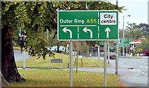 J3876 : Direction sign, Knocknagoney, Belfast (October 2014) by Albert Bridge