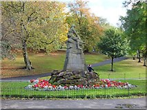 NS5766 : Memorial, Kelvingrove Park, Glasgow by Alpin Stewart