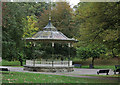 NY9364 : Band stand in a Hexham Park by Trevor Littlewood