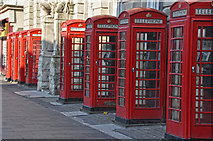 SD3036 : Blackpool : Abingdon Street Telephone Boxes by Lewis Clarke