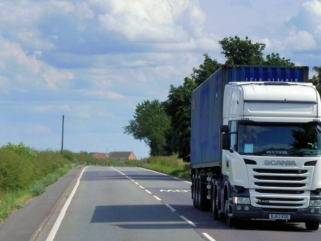 Scania HGV on Chesterfield Road