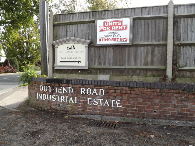 Southend Road Industrial Estate sign