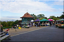 TQ3473 : Farmers market at Horniman Gardens by Bill Boaden