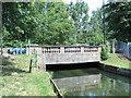 TQ3499 : The Bullsmoor Lane bridge over the New River by Mike Quinn