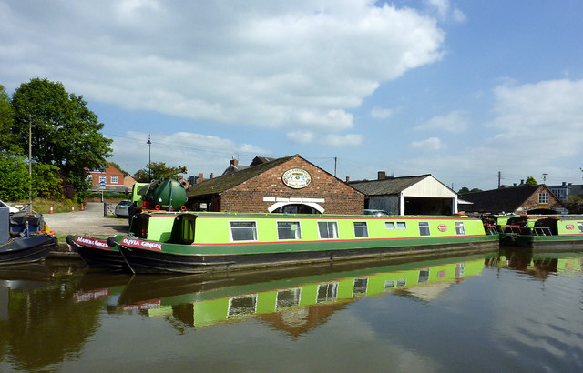 Hire boats at Stone, Staffordshire