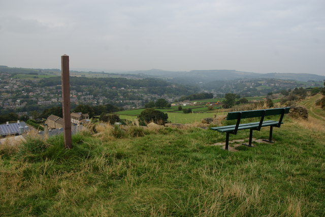 Bench overlooking the Holme Valley