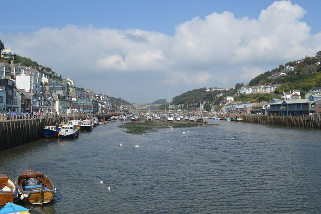 Looking upstream on the Looe River