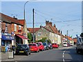 SK9857 : Navenby Village High Street by David Dixon