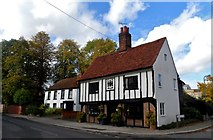 TL8422 : House with date 1560, Coggeshall by Bikeboy